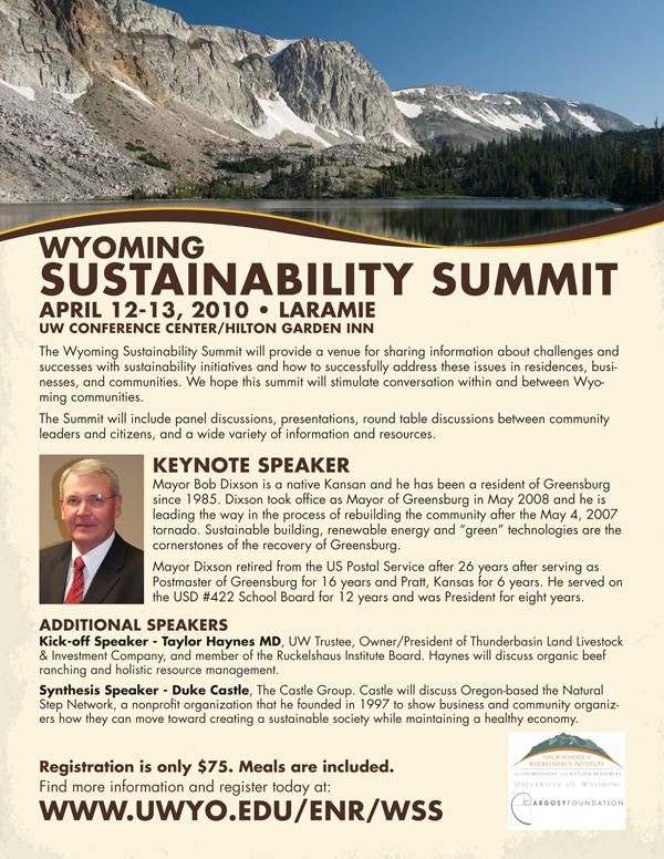 Wyoming Sustainability Summit Flyer
