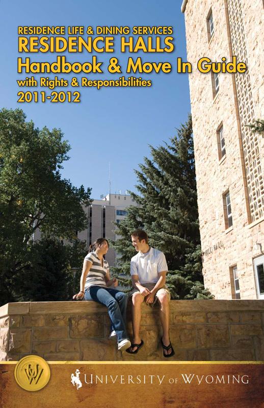 2011-2012 Residence Halls Handbook Cover